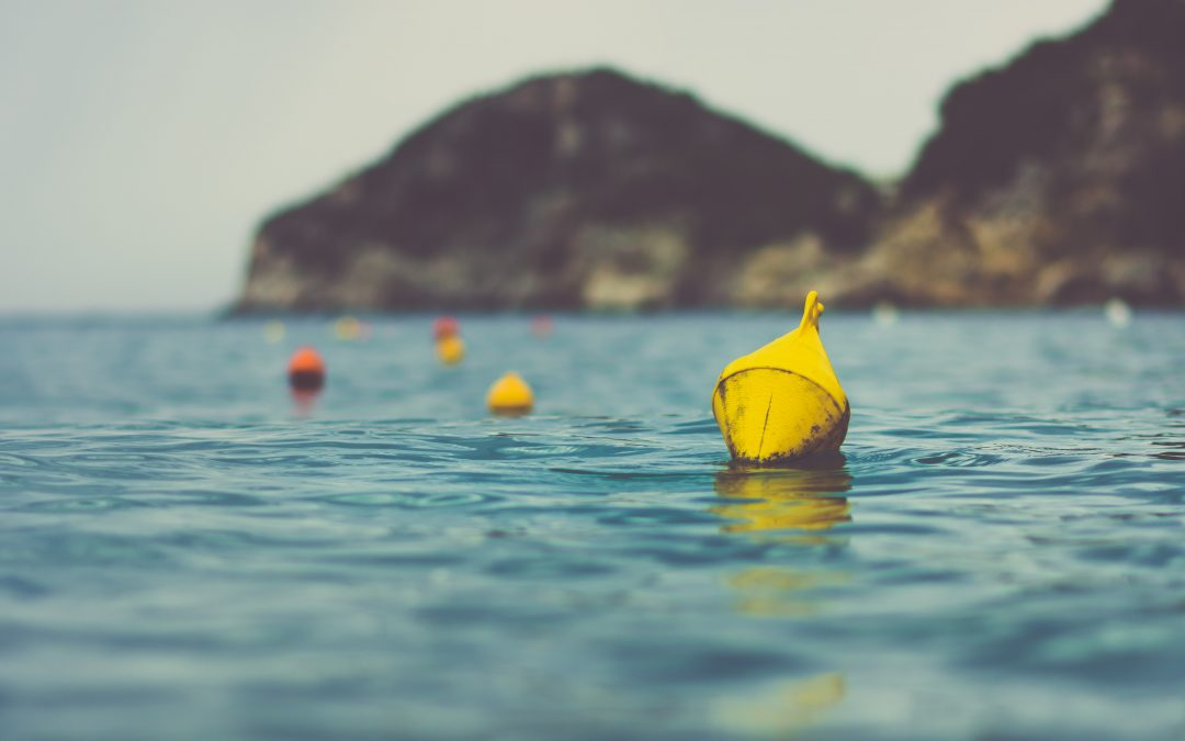 TIP 365: BUOYS ARE HARD TO SPOT IN OPEN WATER. INSTEAD (TRY TO) NAVIGATE ON SOMETHING BIG ON THE HORIZON BEHIND THE BUOY